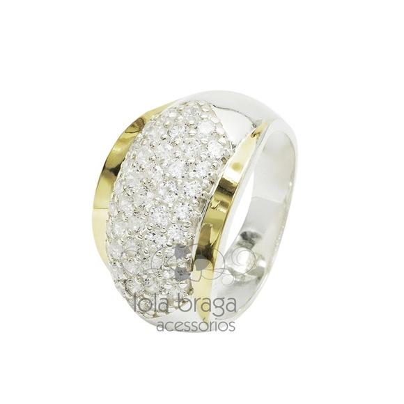 Anel de Prata Pedra Zirconia Cor Safira   Elo7 b15d2bf7a7