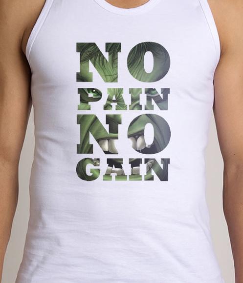 3305577ffc Camiseta Regata No Pain No Gain Fitness