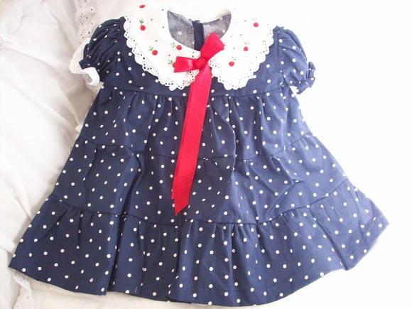 454425f738 Vestido infantil poás com gola bordada no Elo7