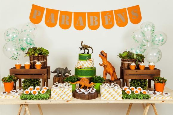 Decoraç u00e3o de Festa Dinossauros Locaç u00e3o KIT no Elo7 Lollipop Festas (AA136C) -> Decoração De Mesa Festa Dinossauro