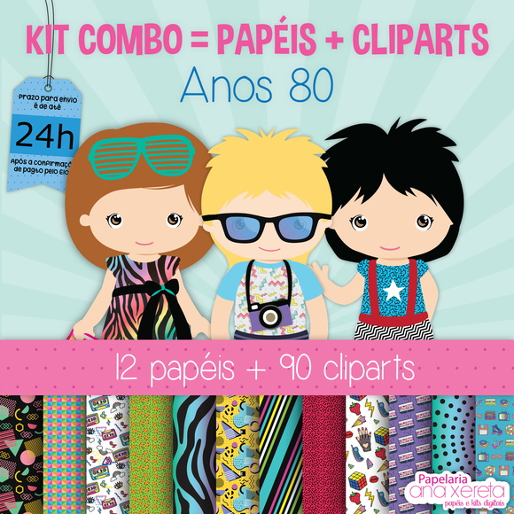 Kit Digital Completo ANOS 80