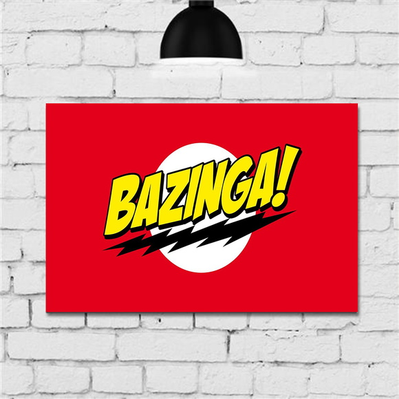 Placas Decorativas Quadro Serie The Big Bang Theory Bazinga
