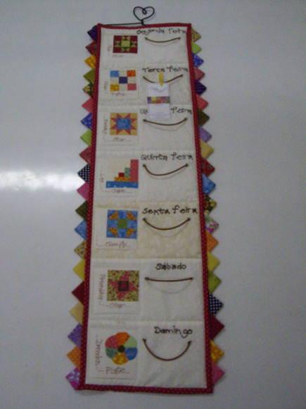 Semaninha pano de prato patchwork