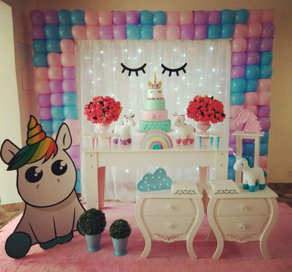 Decoraç u00e3o provençal unicórnio no Elo7 Rede Festas Decorações (B37621) # Decoracao De Unicornio Infantil
