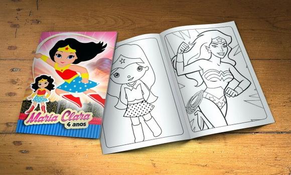Desenhos Para Colorir Mulher Maravilha Baby