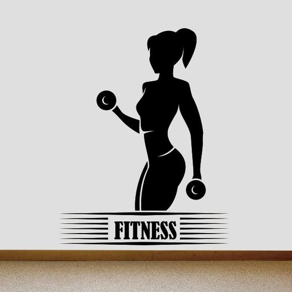 Adesivo De Parede Mulher Fitness Elo7