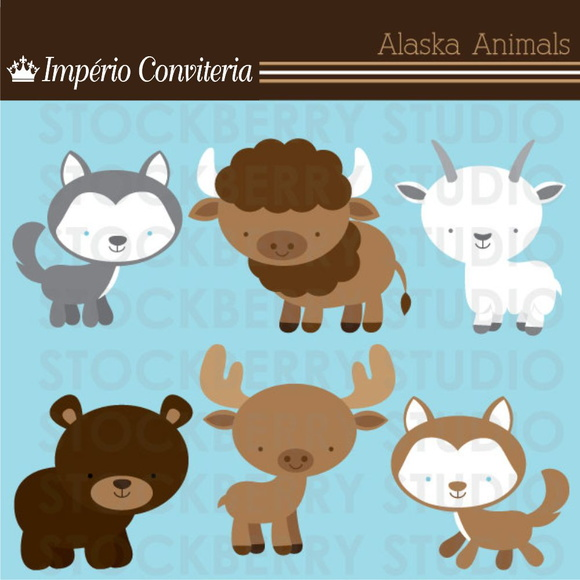 Kit Digital Scrapbook Animais 1