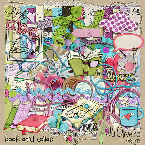 Book addict by Ju Oliveira and Sugary Fa