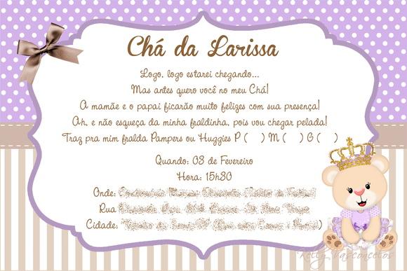 Mensagem De Convite De Cha De Fralda: CONVITE DIGITAL - CHÁ DE FRALDAS No Elo7