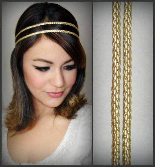 Headband Afrodite golden c/ corrente