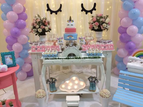 Locaç u00e3o de Decoraç u00e3o Unicórnio no Elo7 Heidy (B51DCB) -> Decoração De Festa Unicórnio Infantil