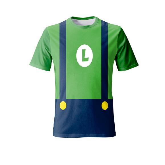 6d229abbbfc95 Camiseta Luigi - Adulto no Elo7