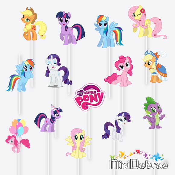 Tag no Palito My Little Pony