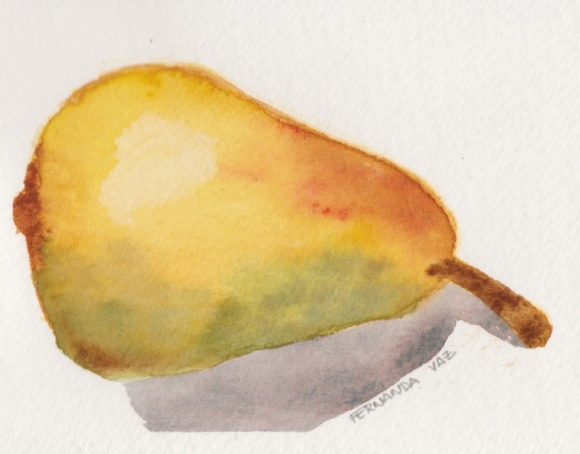 Pêra _ aquarela _ original