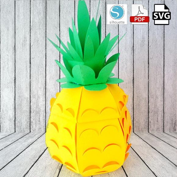 Arquivos de corte Abacaxi 3D no Elo7   Design Scrap Festas (AA9032) 940112c881