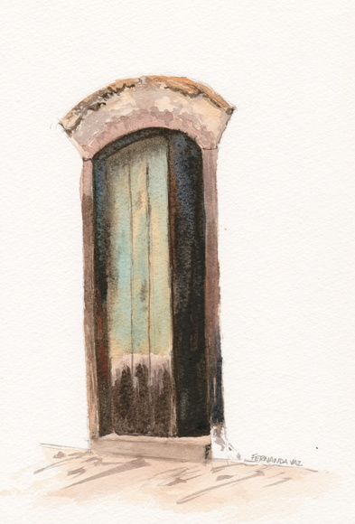 Porta _ aquarela _ original