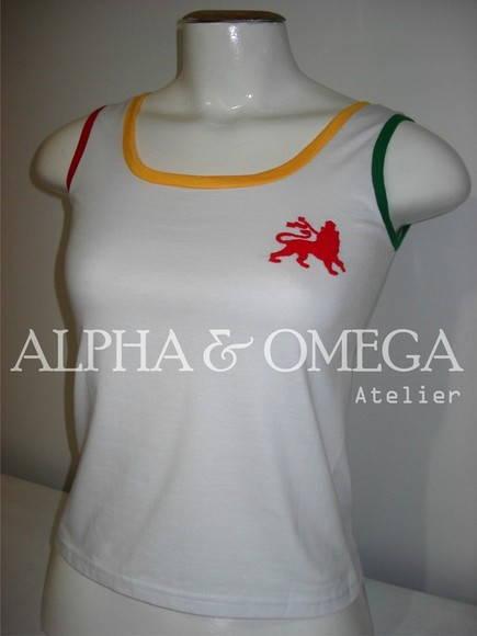 Camiseta Regata Reggae Tri-colors BRANCA no Elo7  fa50b16ad70
