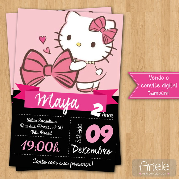 Convite - Hello Kitty