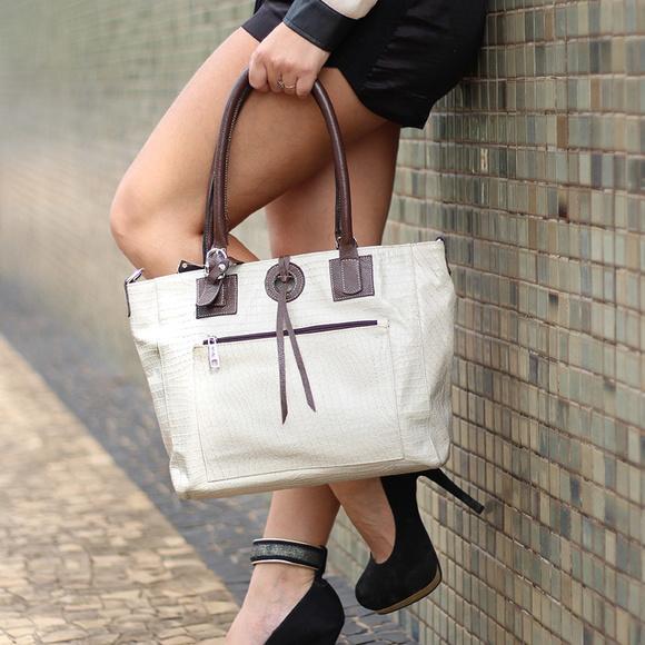 f24c146a0 Bolsa Feminina de Couro Legítimo Isis Marfim no Elo7 | Bolsas Femininas de  Couro Legítimo - Absolut Leather (B84CE9)