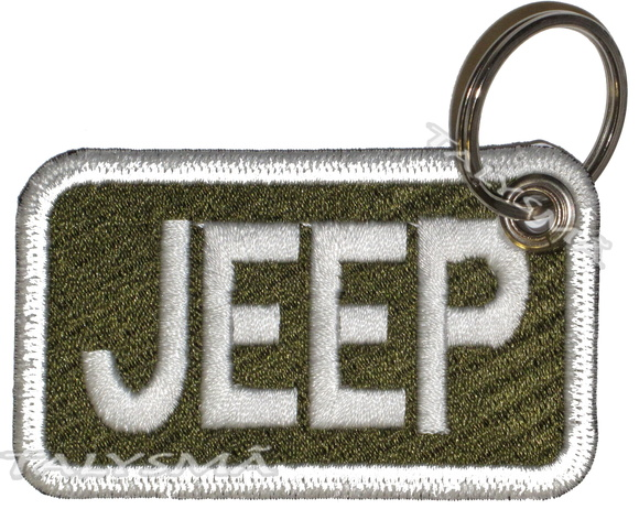 Chaveiro Patch Bordado - Jeep Escrito Verde AD30054