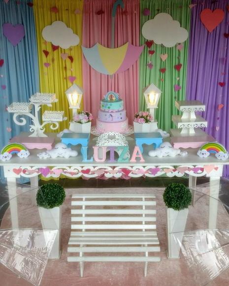 Aluguel de decoraç u00e3o Chuva de Amor no Elo7 Vovó Corujinha (B97827) -> Decoração Festa Aniversario Chuva De Amor