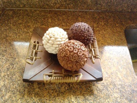Bolas Decorativas Trio Café, canela,grão no Elo7 | artes e