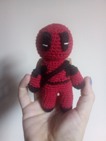 Receita Amigurumi : Deadpool by: Mk amigurumis (com imagens ... | 580x435