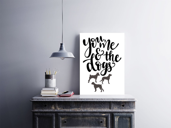 "Placa decorativa MDF ""You, Me And The Dogs"""