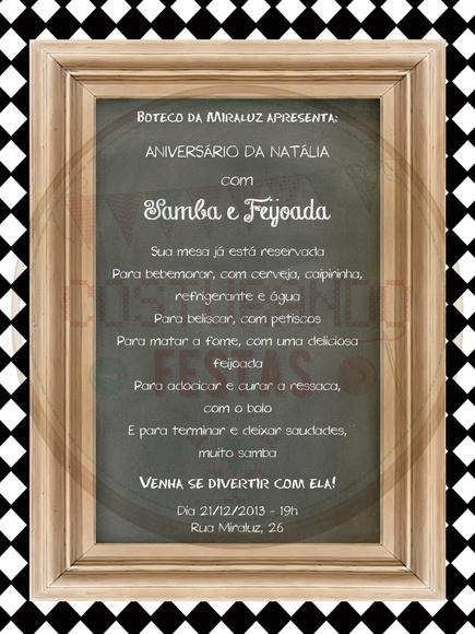 Convite Para Feijoada Elo7