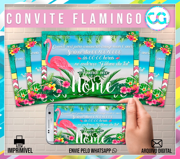 Flamingo - Convite Digital