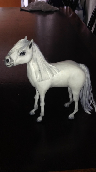 Cavalo Realista Crinas Para Pentear Para Decorar Ou Brinca No