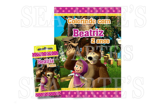 Kit Colorir Masha e o Urso