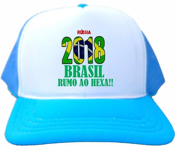 74d0c73785 Bone Trucker Branco Azul Bebe Russia 2018 Brasil Copa Bn241