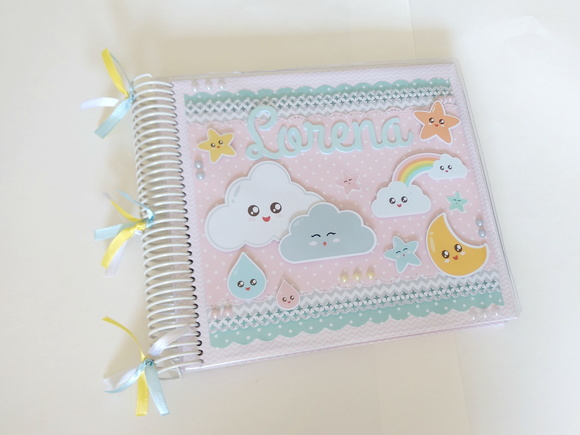 Álbum scrapbook Céu candy