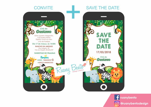 Convite Safari + Save the date