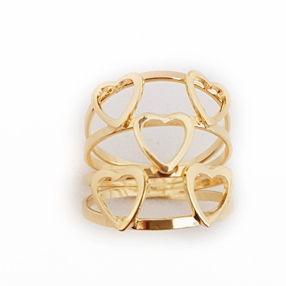 Anel Coracao 5mm Ouro 18k   Elo7 712641002f