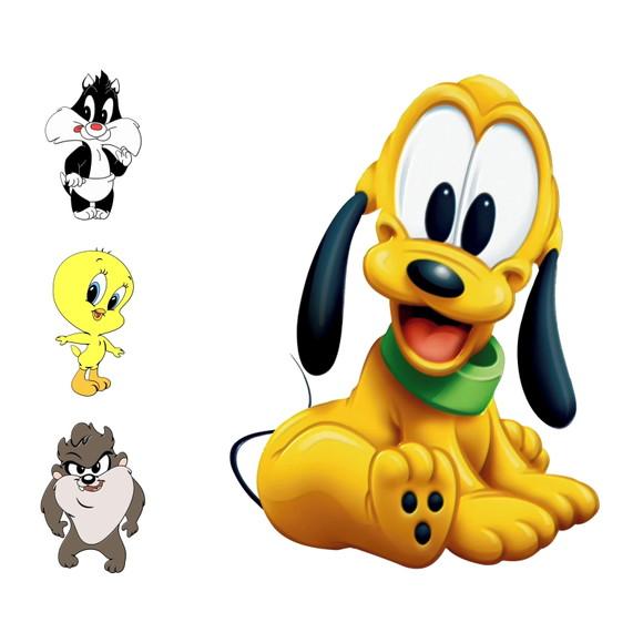 Pluto, Frajola, Piu Piu, Taz