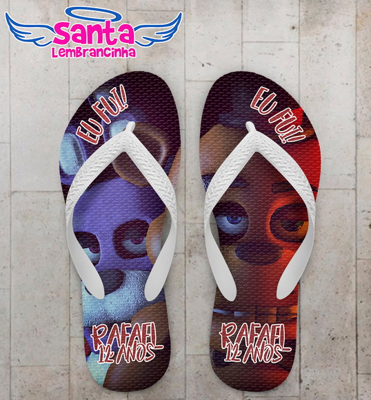 Chinelo Infantil Five night at Fredy's Bonnie e Freddy