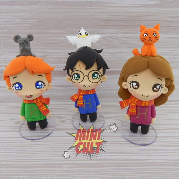Kit 3 Toy Chibi Harry Potter