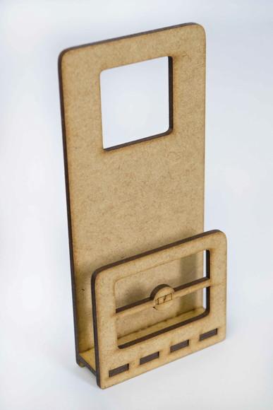 Porta Celular carregador MDF - Brinde personalizado