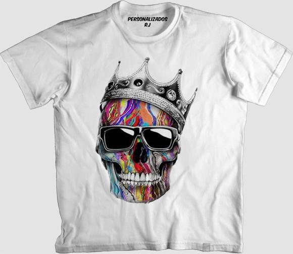 Camisa Caveira Colorida  248622b9c6faa