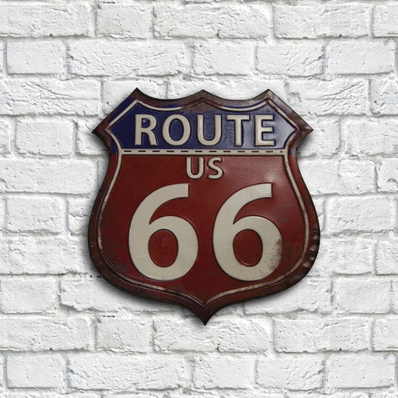 Placa Decorativa - Route 66
