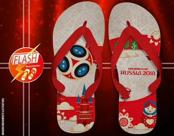 Chinelo Copa do Mundo Personalizado Camisa da Selecao  28197ada81cae