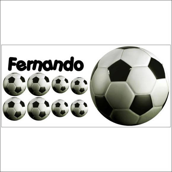 6517ff5acc Adesivo Decorativo Bola de Futebol no Elo7