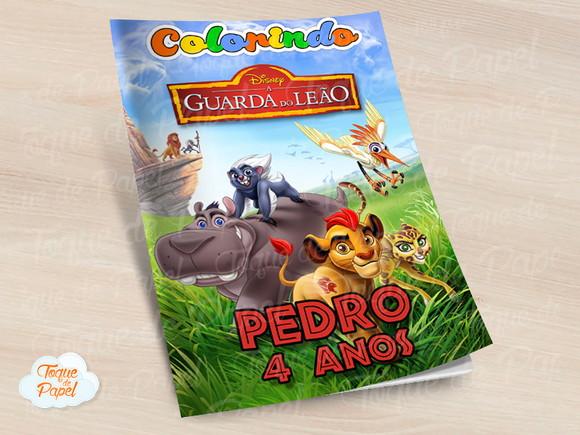 Revista Colorir A Guarda Do Leão Pumba Kion No Elo7