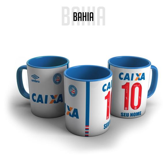 6ee91ceafb Caneca Porcelana Camisa Bahia Personalizada com Nome