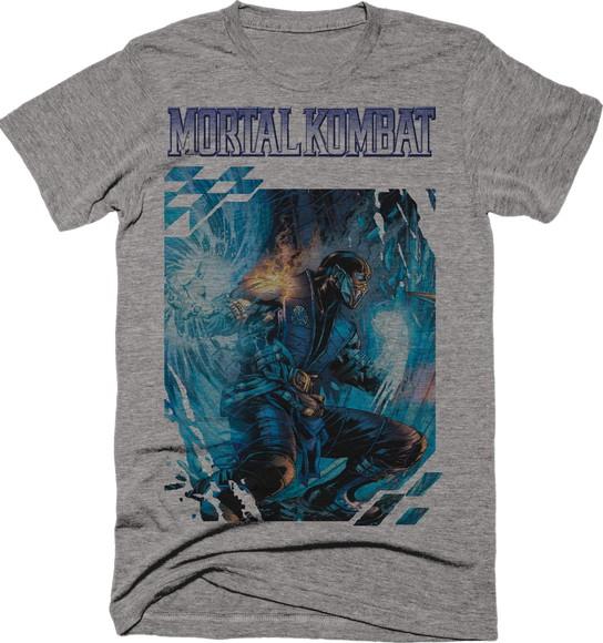 fb7d4b2a0 Camiseta Jogo Mortal Kombat Sub Zero Cinza 01 no Elo7