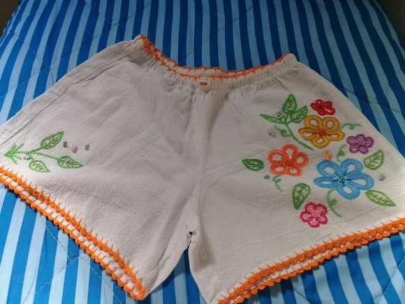 Short bordado adulto G ( 43 )