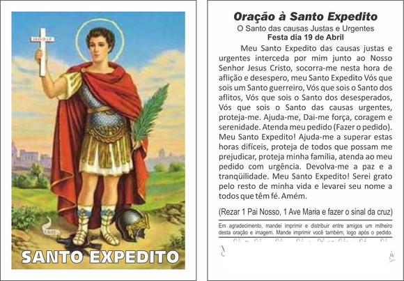 ORAÇÃO - SANTO EXPEDITO