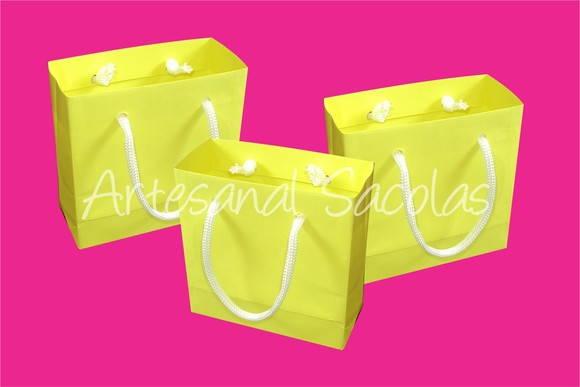4d8db9fd7 Sacola mini 10x10x4,5 cm amarela no Elo7 | Artesanal Sacolas (FA5D9)